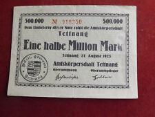 * Ente ufficiali Tettnang 1/2 milione di Mark 1923 (alb3)