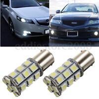 2Pcs 12V 1156 BA15S 5050 27-SMD LED White Car Turn Signal Rear Light Bulb Lamp