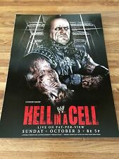 WWE HELL IN A CELL 2010 UNDERTAKER / VENGEANCE 2001 HENRY 2 Sided Poster 12x16