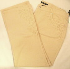New Women's Ralph Lauren Embroidered Beige Jeans Womens Size 20W Moreton Hall