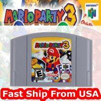 USA For Nintendo 64 N64 Video Games Mario Party 3 Super Rare Christmas Present