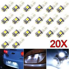 20x T10 5050 W5W 5 SMD 194 168 LED White Car Side Wedge Tail Light Lamp WM