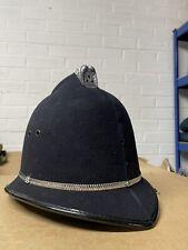 More details for vintage british police officer helmet bobby custodian helmets fancy dress