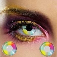80062 lentille de couleur arc en ciel multicolore contact rainbow lens halloween