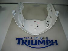 TRIUMPH DAYTONA 675 R LOWER NOSE CONE COCKPIT PANEL CRYSTAL WHITE 2013 T2309583