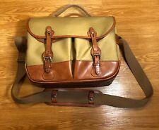Billingham Eventer Camera Bag Khaki Canvas Tan Leather Ex + Used