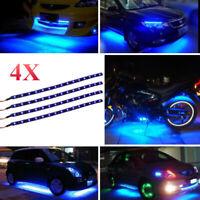 4pcs 30CM/15 LED Car Motors Truck Flexible Strip Light Waterproof 12V KDS Blue