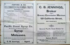 Dried Fruit/Coffee/Salmon/Seeds/Pickles 1890 Catalog/Price List-San Francisco CA
