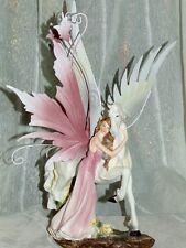 fee,elfe,pferd,31x19cm,metallflügel,figur,pegasus,fairy,feen,elfen,skulptur,