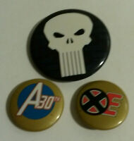 Marvel 1990s Punisher Avengers 30th X Men pin button pinback lot 3