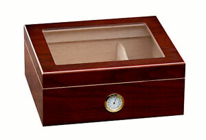 Prestige Import Group Chalet Glasstop Cherry Cigar Humidor (FAST FREE SHIPPING)