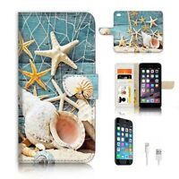 ( For iPhone 6 / 6S ) Wallet Case Cover P9905 Sea Star Shell