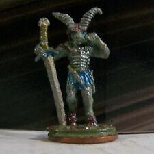 Dungeons & Dragons Rare Vintage Metal Miniature D&D Goat Horn Hero w Big Sword