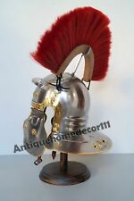 Medieval Armour Roman Legionnaire Gallic Wearable Helmet With Red Plume-Replica