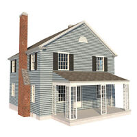 2 Story Farmhouse Plans DIY 4 Bedroom Farm Home 1680 sq/ft Build Your Own
