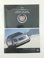(Lot of 2) 2004 Cadillac CTS Warranty & Owner Assistance Information