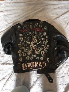 Vintage Punk Rockabilly Psychobilly Leather Biker Jacket