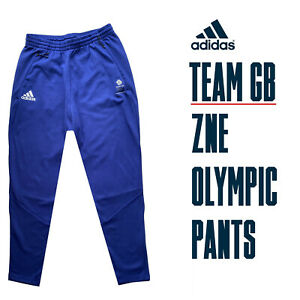 🇬🇧 ADIDAS TEAM GB OLYMPIC ATHLETE ZNE TRACKSUIT BOTTOMS PANTS Size 38/40 🇬🇧