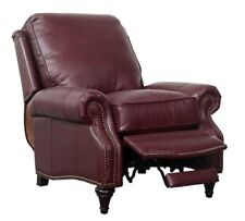 Barcalounger Avery Genuine Shoreham Wine Leather Recliner Chair 7-2160 5700-76