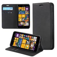 Custodia per Microsoft Lumia 540 Cover Case Portafoglio Wallet Etui Nero