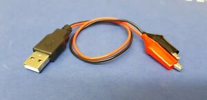 USB Plug Type A to Crocodile Clip Test Leads 325mm ........  Economy Delivery
