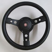 "New 13"" Leather Steering Wheel & Hub Adaptor Austin Healey Sprite 1964-67 Black"