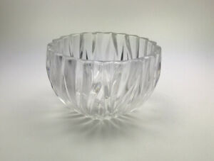 Kristallschale mit Wellen- Schliff, für Snacks,Höhe 90 mm