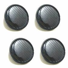 4Pcs 60MM Carbon Fiber Look Auto Black  Car Wheel Hub Center Caps Cover Plastic