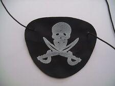 8 x Augenklappe Pirat schwarz weiß mit Gummiband Kindergeburtstag Party