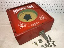Vintage Mid 1900's SHAKE 'EM Nickel Coin  Operated Dice Trade Stimulator EXC!