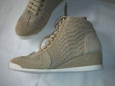 Damen high top Sneaker, Gr. 39 beige, Leder in Reptilienoptik, NEU