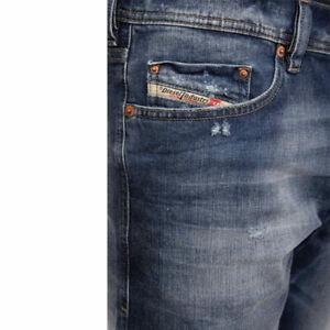DIESEL TEPPHAR R248D SLIM CARROT STRETCH Men's Denim Jeans Blue