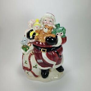 Fitz & Floyd Old World Santa Claus Toy Bag Cookie Jar 1988