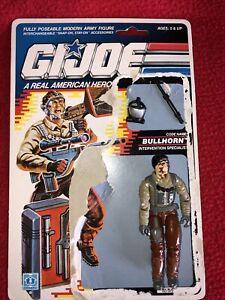"GI JOE HASBRO FIGURE ~BULLHORN 3.75"" ~1989 ~ OPENED With UNCUT FILE CARD."
