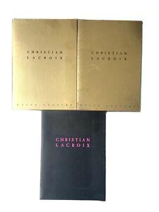 Christian Lacroix x3 haute couture prêt-a-porter press packs defile 2000 2001