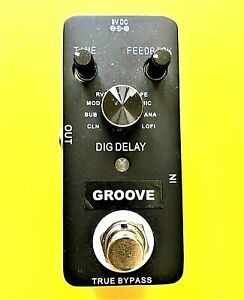 GROOVE  DIGITAL DELAY guitar effects pedal,  True by-pass