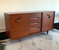 Large John Keal for Brown Saltman Treasure Chest Credenza Mid Century Modern