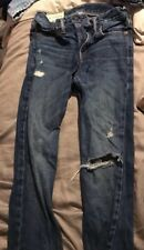 Boy's Abercrombie Size 14 Slim Straight Ripped Jeans Excellent Condition