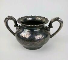 Van Bergh Silverplate Co. Antique Sugar Bowl #468 Quadruple Plate Rochester NY