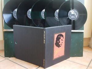JACQUES BREL RARE COFFRET 5 x 33Tnuméroté 1052 Made in Japan + Livret