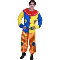Adult Circus Clown Costume Colorful Suit Halloween Party Fancy Dress