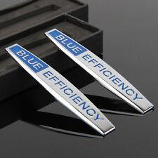 2pcs Car Fender Badges Emblems Sticker For BLUE EFFICIENCY AMG A B C E S series