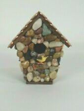 Hand Made Bird House Made From Polished Rocks And Pennies