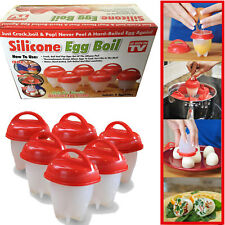 Egglettes Egg Cooker Hard Boiled Eggs without the Shell 6 Egg Cups As Seen On TV