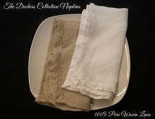 "The Duchess Collection 100% Pure Linen Ruffled Napkins - Set of 4 - 17"" x 17"""
