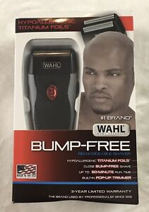 Wahl Men's Bump-Free Rechargeable Electric Shaver - Black/Gray