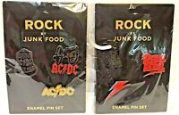 Rock by Junk Food- David Bowie & ACDC Enamel Pins Set Rock n Roll Legend NIP