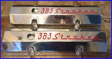 383 STROKER FABRICATED ALUMINIUM ROCKER COVERS SBC DRAG CHEV HOTROD BURNOUT