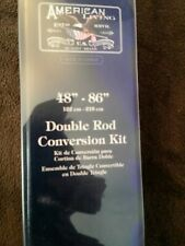 "American Living Double Rod Conversion Kit 48"" - 86"" Brand New, Free Shipping"