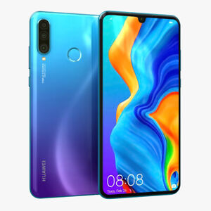 "Unlocked Huawei P30 Lite 128GB 4G LTE MAR-LX1A 6.15"" 48MP  Smartphone Refurbised"